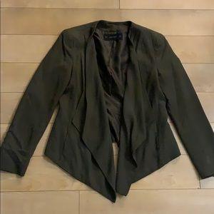 Flowy dark green blazer